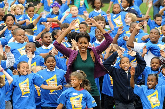 Michelle Obama Jumping Jacks