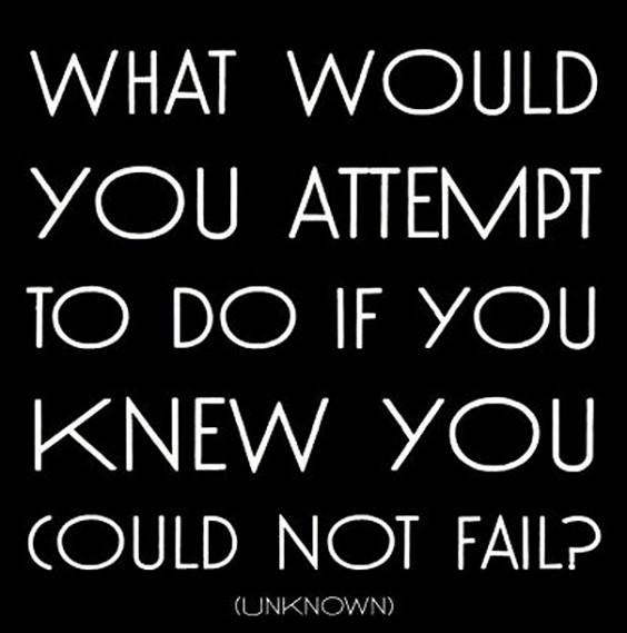 You Cannot Fail