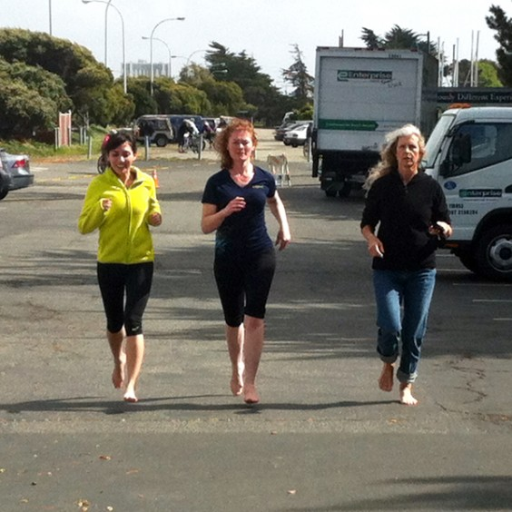 Barefoot Running Trio