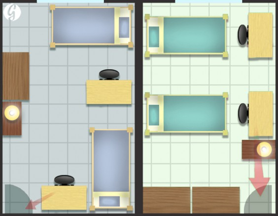 ideal double room layouts illustration by bob al greene design by r