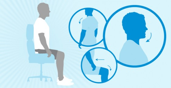 how to get good posture at work