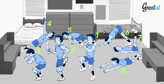 8 Bodyweight Exercises for Any Dorm Room