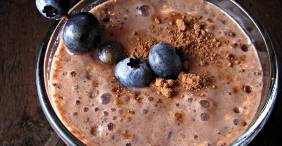 Chocolate-Blueberry Milkshake