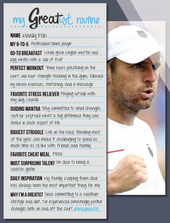 My Greatist Routine Mardy Fish