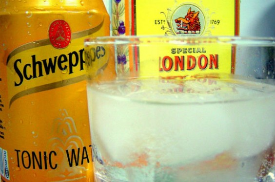 malaria tonic water