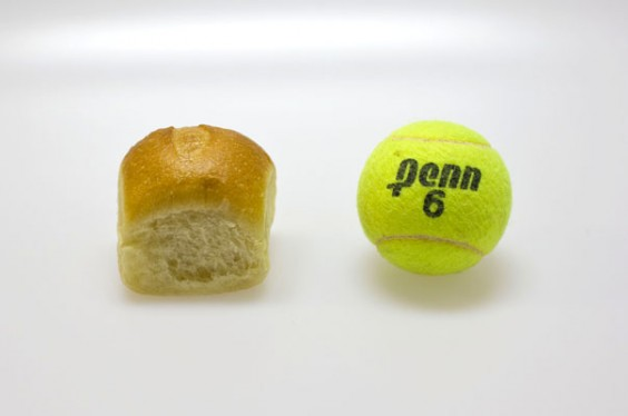 Dinner Roll and Tennis Ball