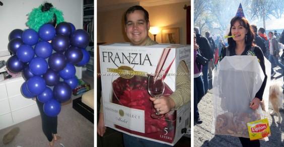 Grape, Wine, and Tea Halloween Costume Ideas