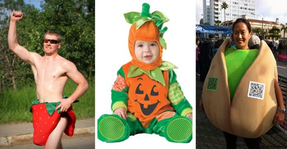 Healthy Halloween Costume Ideas: Strawberry, Pumpkin, and Pistachio Nut