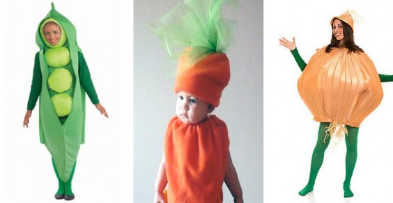 Healthy Halloween Costume Ideas: Peas, Carrot, and Onion