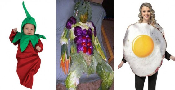 Healthy Halloween Costume Ideas: Chili Pepper, Veggie Man, and Fried Egg