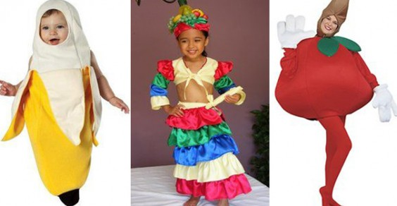 Healthy Halloween Costume Ideas: Banana, Chiquita Banana Lady, and Tomato