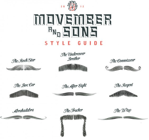 Movember 2012 Style Guide