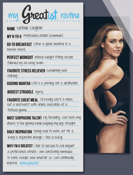My Greatist Routine - Natalie Coughlin