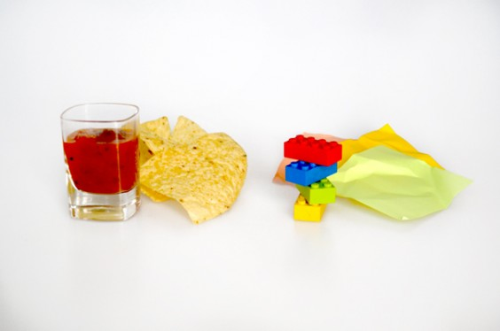 Chips and Salsa - Post-Its and Legos