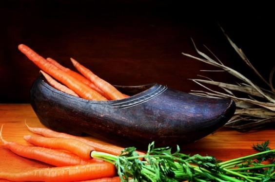 Carrots and Hay in Shoe