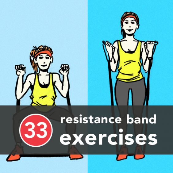 Fitness Bands You Can Swim With: 33 Resistance Band Exercises You Can Do At Home