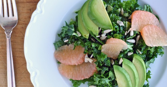 Healthy Salad Recipe: Shredded Kale Salad With Avocado and Grapefruit