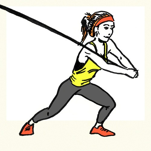 Resistance Band Woodchoppers