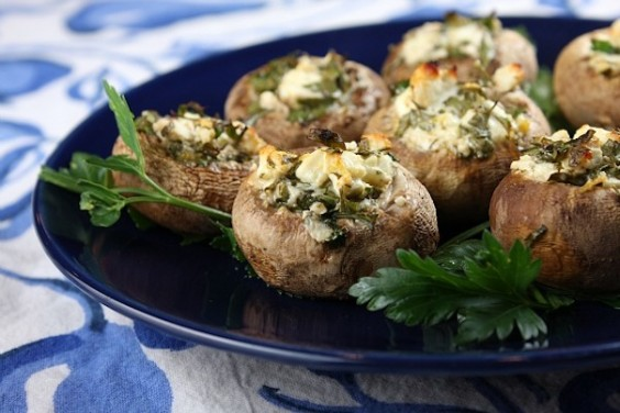 Superbowl Feta Mushrooms