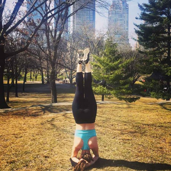 Yoga in Central Park - Lindsay Tigar