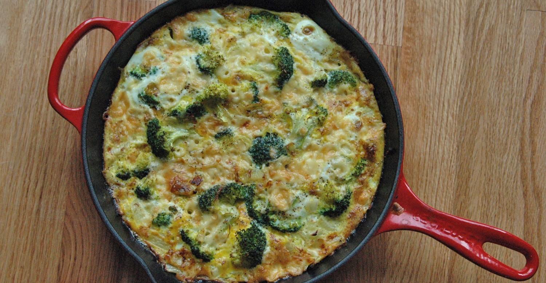 Broccoli Cheddar Frittata | Greatist