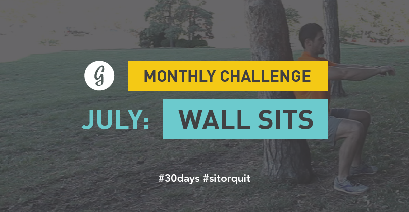 Wall Sit Challenge Join Greatist's 30-Day...