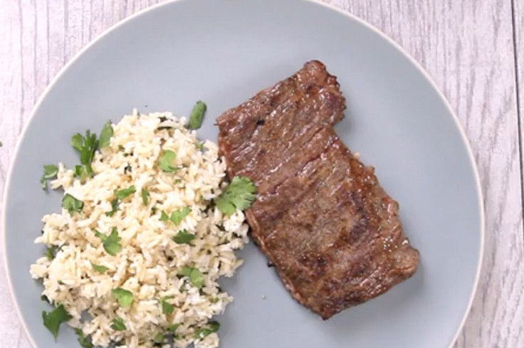 Skirt Steak and Coconut Lime Rice