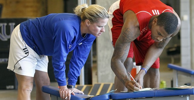 In the Gym With Andrea Hudy, KU Strength Coach