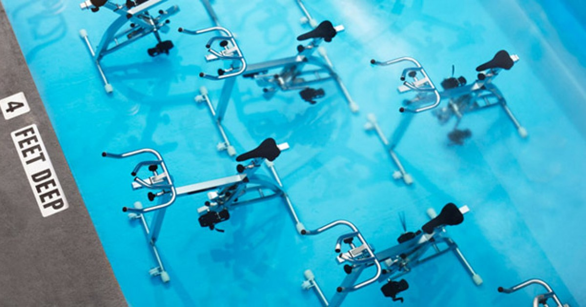 Aquaspinning An Underwater Spin Class Greatist