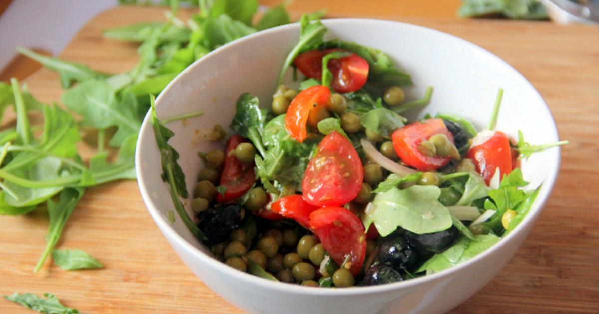 Veggie-Packed Arugula Salad