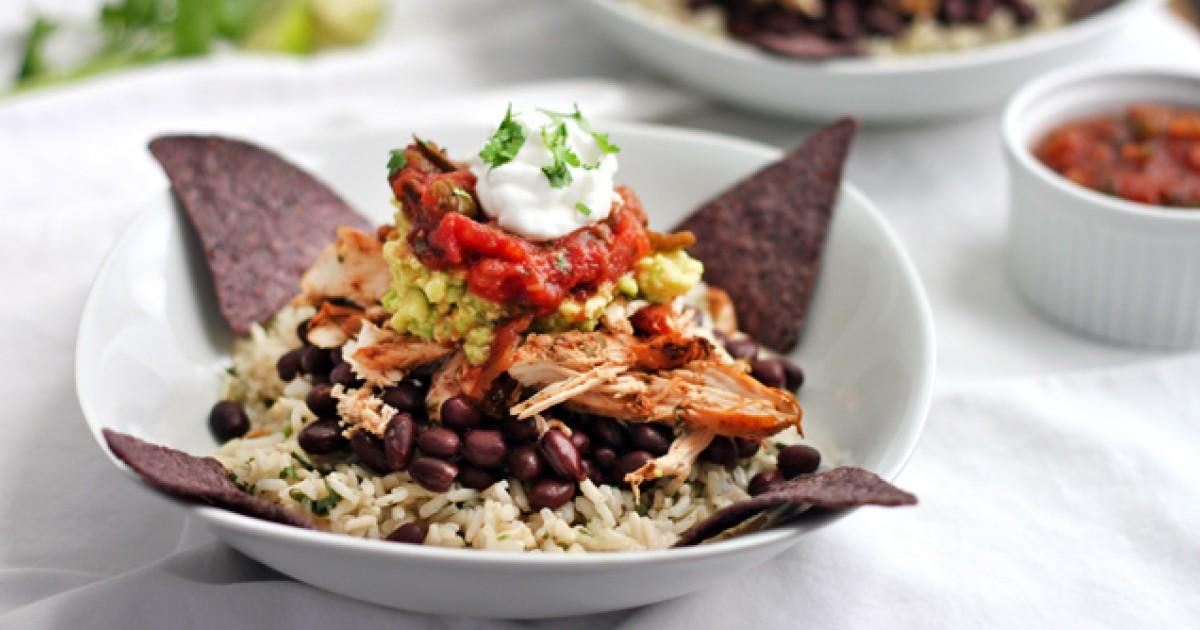 Healthy Chicken Burrito Bowl Greatist