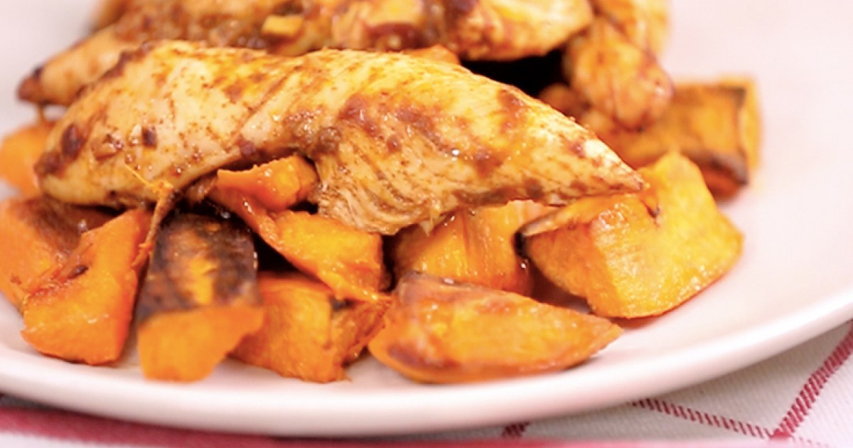 Chipotle Chicken and Sweet Potatoes Recipe | Greatist