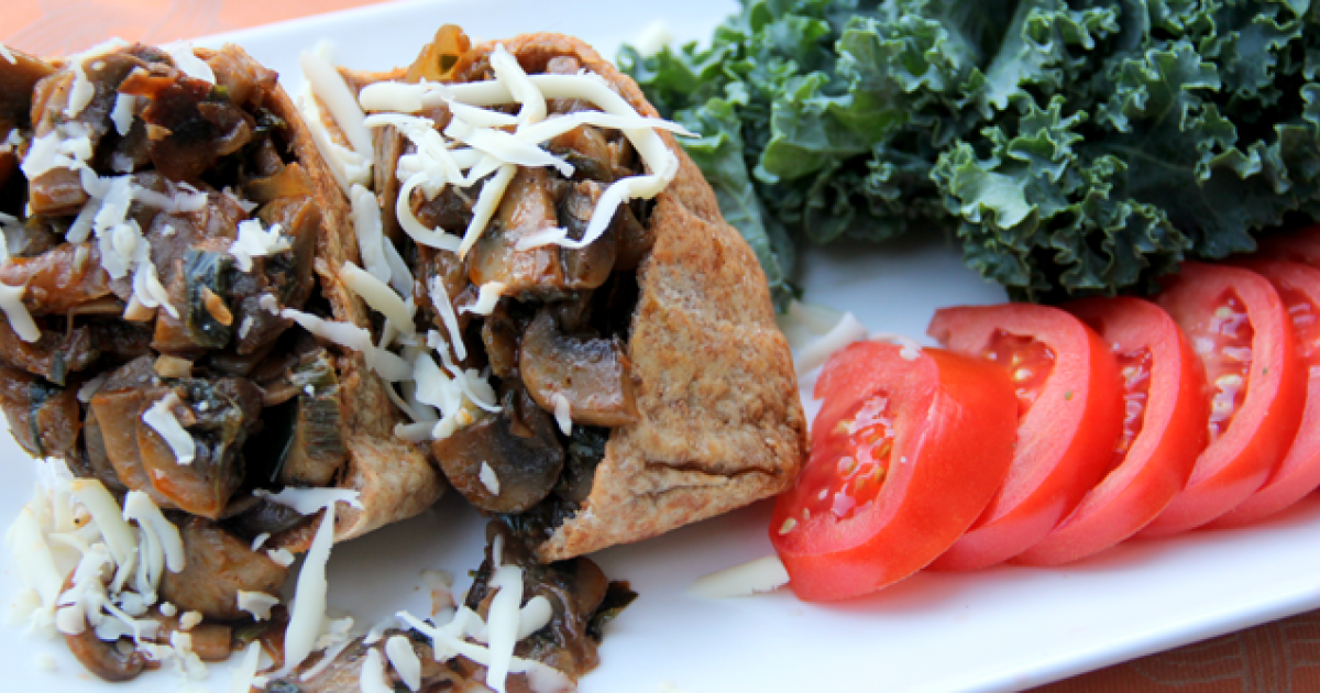 Pita Recipe: Mushroom Stuffed Pita in Less than 15 Minutes