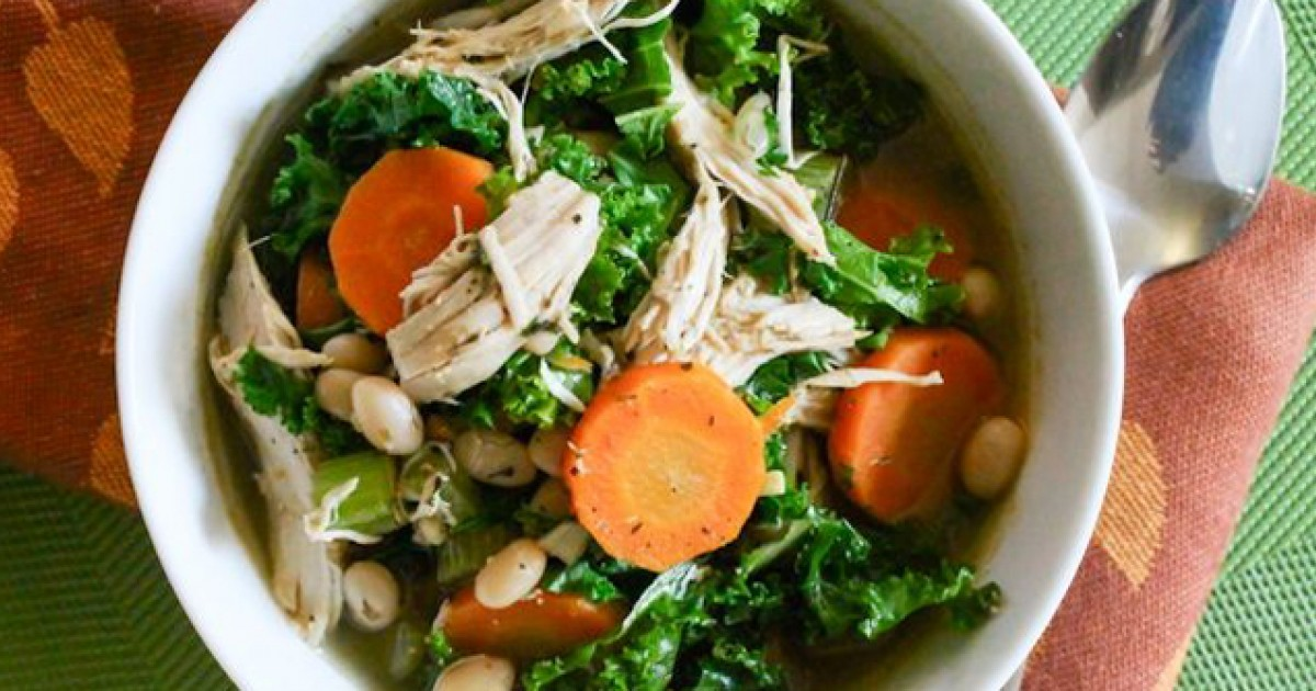 White Bean, Turkey, and Kale Soup Greatist