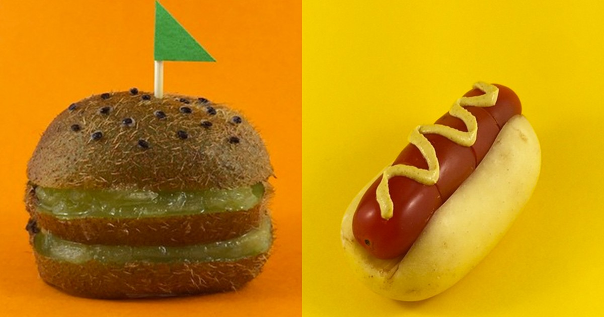 Food Art Project Transforms Healthy Items Into Junk Food