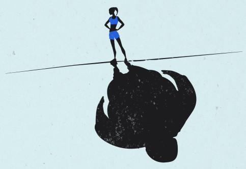Obesity Shadow Illustration