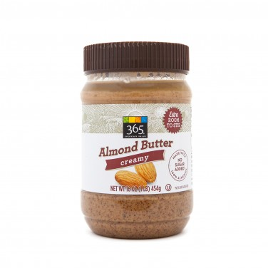 365 Everyday Value Almond Butter Creamy Extra Room to Stir No Sugar Added