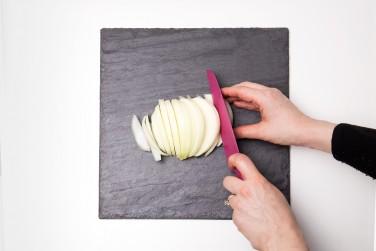 3. Cut into uniform slices.