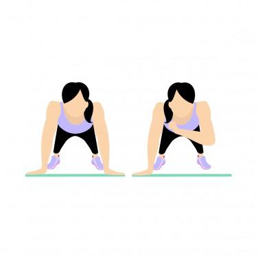 7 Min Workout: Shoulder tap