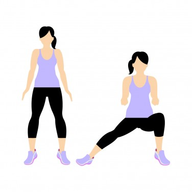 7 Min Workout: Side lunge right