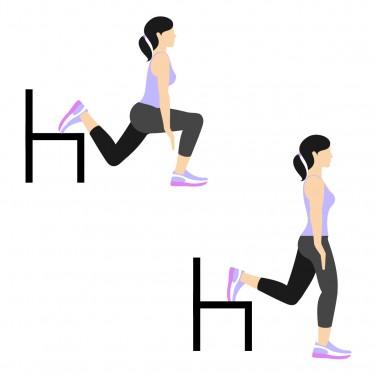 7 Min Workout: Split leg right