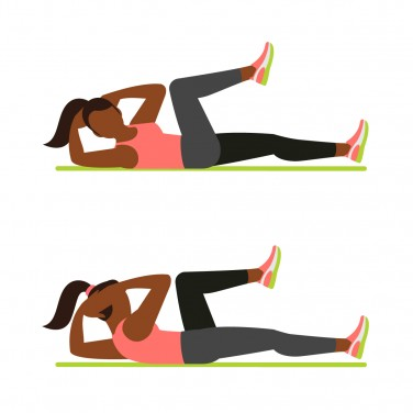 7-Minute Workout: Bicycle Crunch