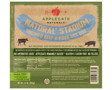 Applegate Stadium Beef and Pork Hot Dog