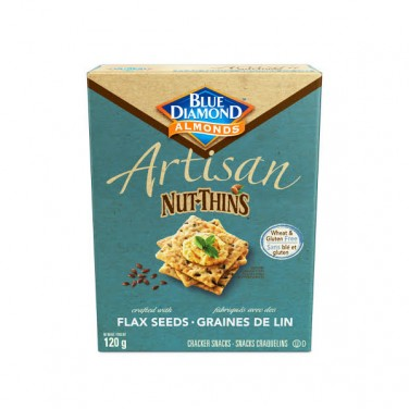 Blue Diamond Artisan Nut Thins Flax Seed