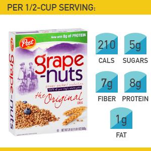 19. Post Foods Grape-Nuts