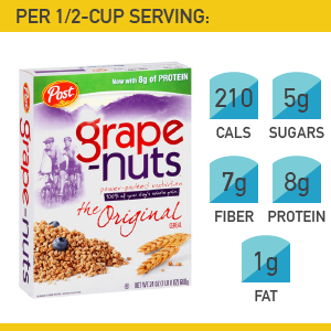 19. Post Foods Grape-Nuts