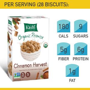 13. Kashi Cinnamon Harvest Whole Wheat Biscuits