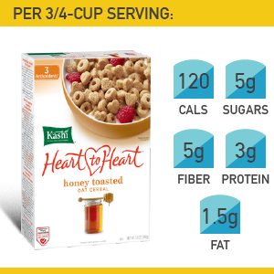 15. Kashi Heart to Heart Honey Toasted Oat Cereal