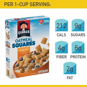 20. Quaker Honey Nut Oatmeal Squares