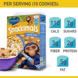 3. Barbara's Snackimals Vanilla Blast Cereal